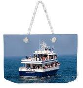 Whale Watching Boat Weekender Tote Bag