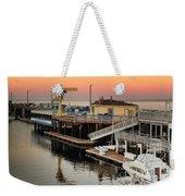 Wharf #2 In Monterey At Sunset Weekender Tote Bag