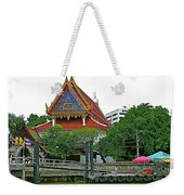 Wharf Along Waterway Of Bangkok-thailand Weekender Tote Bag