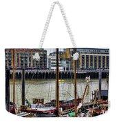 Wharf Ships Weekender Tote Bag
