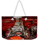 What Is Under The Hood-red Customized Retro Pontiac Weekender Tote Bag