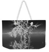 Whats Left Black And White Weekender Tote Bag