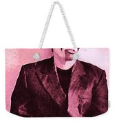 Whats The Point In Miming In Burgundy Weekender Tote Bag