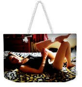 What's The Story Morning Glory Weekender Tote Bag