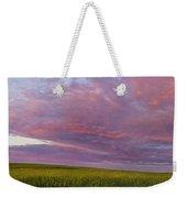 Wheat Field Sunset Panorama Weekender Tote Bag