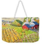 Wheat Harvest Kamouraska Quebec Weekender Tote Bag by Patricia Eyre