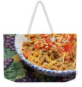 Wheat Pasta Goulash Weekender Tote Bag by Andee Design