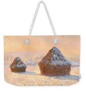 Wheat Stacks - Snow Effect Morning Weekender Tote Bag
