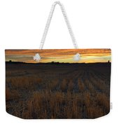 Wheat Stubble Sunset Weekender Tote Bag