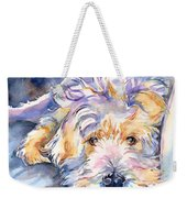 Wheaten Terrier Painting Weekender Tote Bag