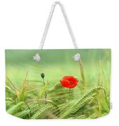 Wheatfield Poppy Weekender Tote Bag