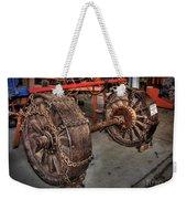 Wheels Of Old Steam Wagon Weekender Tote Bag