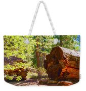 When Giants Fall Weekender Tote Bag by Barbara Snyder