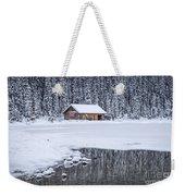 When It Snows Outside Weekender Tote Bag by Evelina Kremsdorf