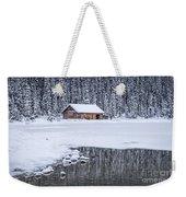 When It Snows Outside Weekender Tote Bag