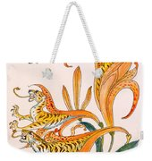 When Lilies Turned To Tiger Blaze Weekender Tote Bag by Walter Crane