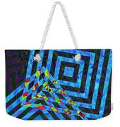 When Squares Merge Blue Weekender Tote Bag