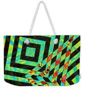 When Squares  Merge Green Weekender Tote Bag