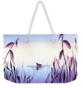 When The Sky Melts With Water A Peaceful Pond Weekender Tote Bag