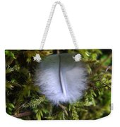 Where A Feather Finds Itself Weekender Tote Bag
