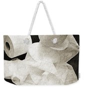 Where Is My Spare Roll Bw V1 Weekender Tote Bag