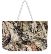Where Often You And I Upon Fain Primrose Beds Were Wont To Lie Weekender Tote Bag by Arthur Rackham