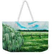 Where The Green Grass Grows Weekender Tote Bag