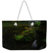 Where The Water Is As Slow As Tranquility Weekender Tote Bag