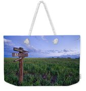 Which Way To Go Weekender Tote Bag