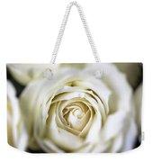 Whie Rose Softly Weekender Tote Bag