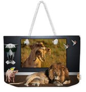 While The Lion Sleeps Tonight Weekender Tote Bag