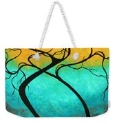 Whimsical Abstract Tree Landscape With Moon Twisting Love IIi By Megan Duncanson Weekender Tote Bag