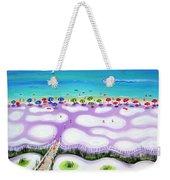 Whimsical Beach Umbrellas - Seashore Weekender Tote Bag