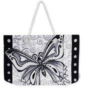 Whimsical Black And White Butterfly Original Painting Decorative Contemporary Art By Madart Studios Weekender Tote Bag