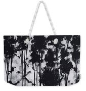 Whimsical Black And White Landscape Original Painting Decorative Contemporary Art By Madart Studios Weekender Tote Bag