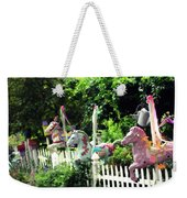 Whimsical Carousel Horse Fence Weekender Tote Bag
