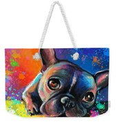 Whimsical Colorful French Bulldog  Weekender Tote Bag