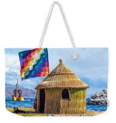Whiphala Flag On Floating Island Weekender Tote Bag