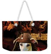 Whippet Art - Pirates Of The Caribbean The Curse Of The Black Pearl Movie Poster Weekender Tote Bag