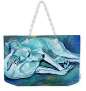 Whippet-effects Of Gravity-3 Weekender Tote Bag