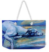 Whippet-effects Of Gravity-6 Weekender Tote Bag