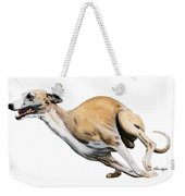 Whippet In The Wind Weekender Tote Bag