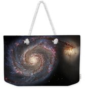 Whirlpool Galaxy 2 Weekender Tote Bag by Jennifer Rondinelli Reilly - Fine Art Photography