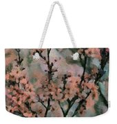Whispering Cherry Blossoms Weekender Tote Bag by Janice MacLellan