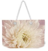 Whispering White Floral Weekender Tote Bag