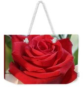 Whispers Of Passion And Love Red Rose Greeting Card  Weekender Tote Bag