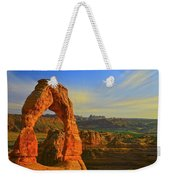 Whispy Clouds Over Delicate Arch Weekender Tote Bag