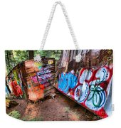 Whistler Train Wreck Covered In Graffiti Weekender Tote Bag