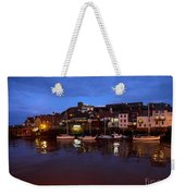 Whitby Lower Harbour At Night Weekender Tote Bag