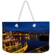 Whitby Upper Harbour At Night Weekender Tote Bag